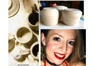 Kasey Bass and pottery